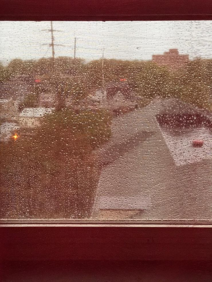 RED CURTAIN RAIN 1