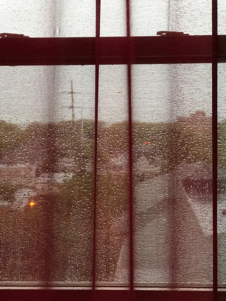 RED CURTAIN RAIN 3
