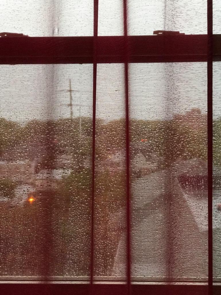 RED CURTAIN RAIN 3