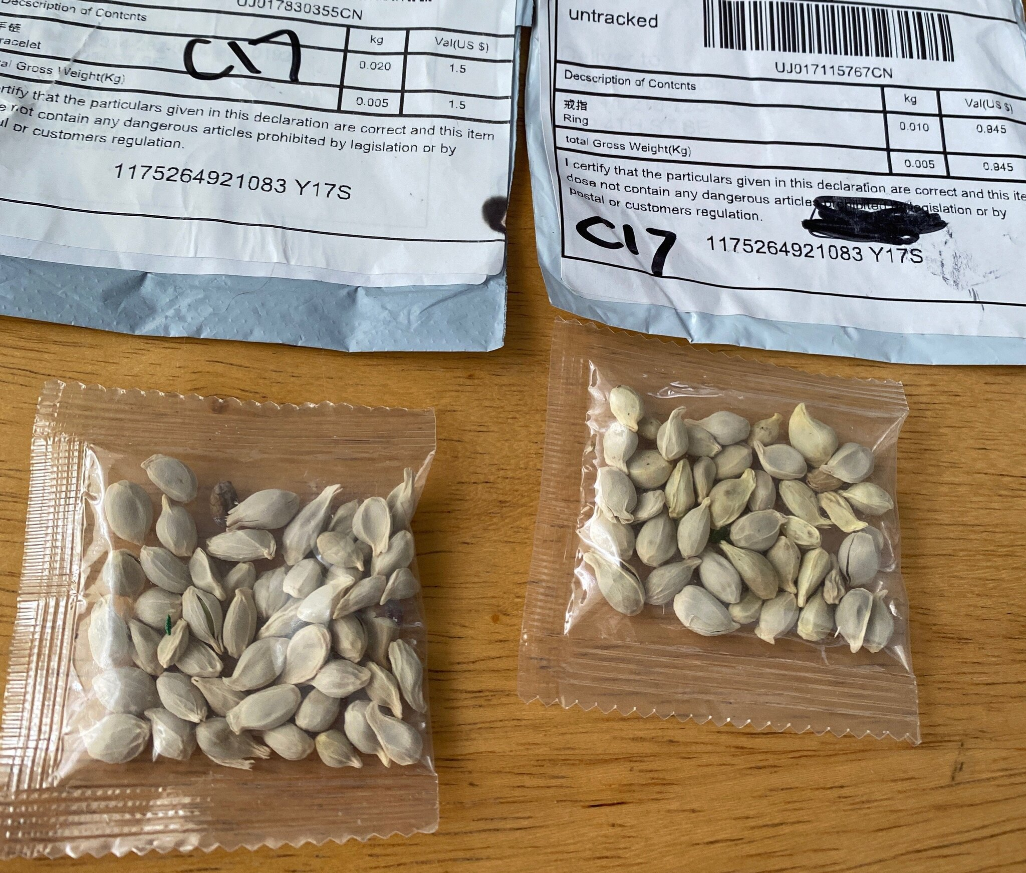 Seeds Sent From China To USA Individuals